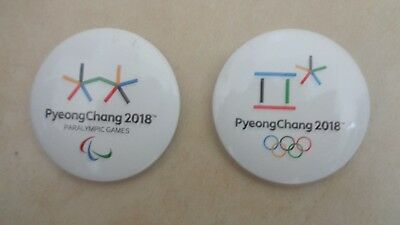 Pyeongchang 2018 olympic button olympic-paralympic logo