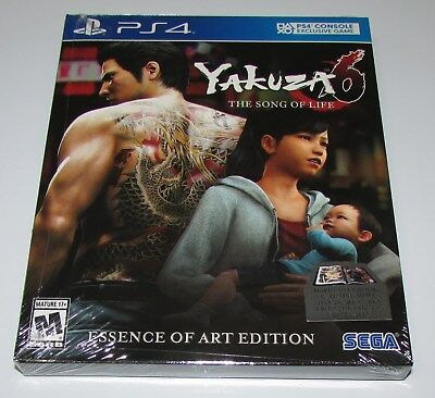 Yakuza 6 The Song Of Life Essence Of Art Edition Playstation 4 Brand New