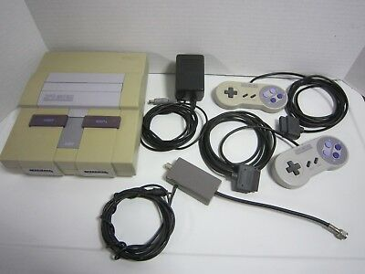 SNES Super Nintendo Console Bundle Tested - Works