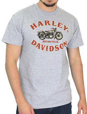 Harley-Davidson Mens Rustic Motorcycle Grey Heather Short Sleeve T-Shirt