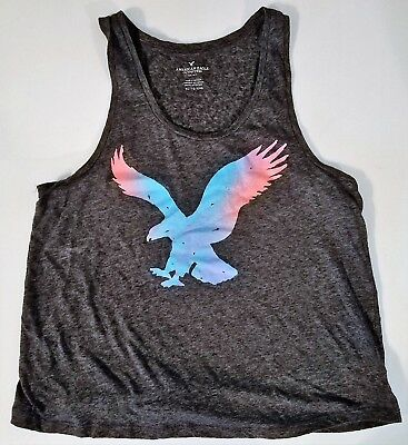 American Eagle Outfitters Womens XL Black Logo Lightweight Tanktop