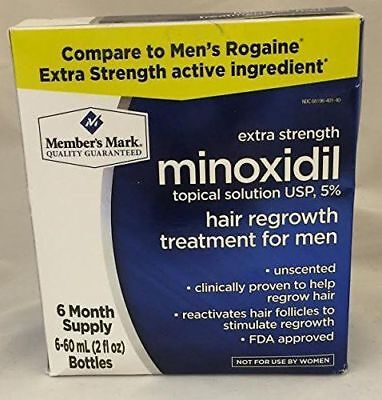 Members Mark 6 Months Minoxidil 5 Extra Strength Men Hair Regrowth Treatment