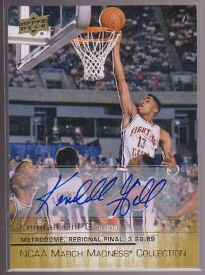 201415 NCAA March Madness Auto Autograph Kendall Gill