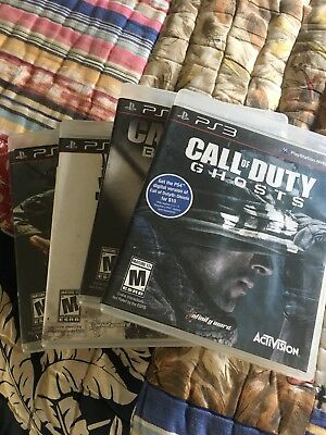 Lot Of 4 PS3 Games Call of Duty Ghosts Modern Warfare 3 Black OPS 1 - 2