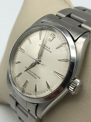 Vintage Rolex Oyster Perpetual Stainless Steel Bubble Back