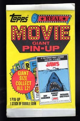 1981 TOPPS Real Movie Giant Pin Up Poster unopened pack