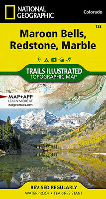National Geographic Trails Illustrated Colo Maroon Bells Redstone Marble Map 128