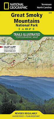 National Geographic Trails Illustrated TNNC Great Smoky Mtns Nat Park Map 229