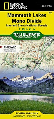 National Geographic Trails Illustrated CA Mammoth LakesMono Divide Map 809