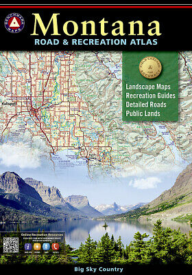 National Geographic Benchmark Maps Montana MT Road - Recreation Atlas - Guide