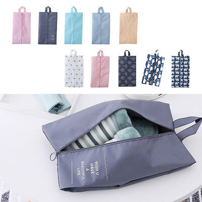 Waterproof Oxford Cloth Shoe Zip Bags Travel Tote Organizer Pouch Storage Case