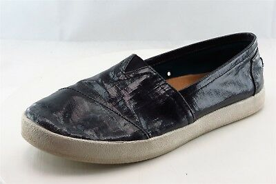 Toms Loafers Black Synthetic Women Shoes Size 8-5 Medium B M