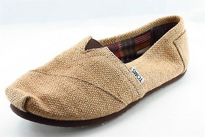 Toms Loafers Brown Textile Women Shoes Size 8 Medium B M