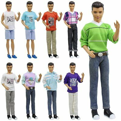 5x Fashion Casual Wear Clothes Shirt Outfit for Barbies Boy Friend 12 Ken Doll