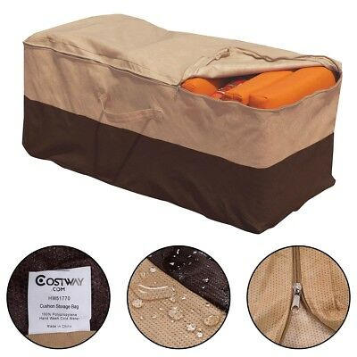 Outdoor Cushion Storage Bag Patio Furniture Chaise Organizer Protector Cover US