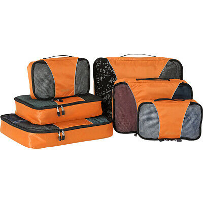 eBags Packing Cubes - 6pc Sampler Set 8 Colors Travel Organizer NEW