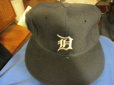 NWOT Vintage 90s Solid Blue DETROIT TIGERS Home Hat 6 78 New Era 5950