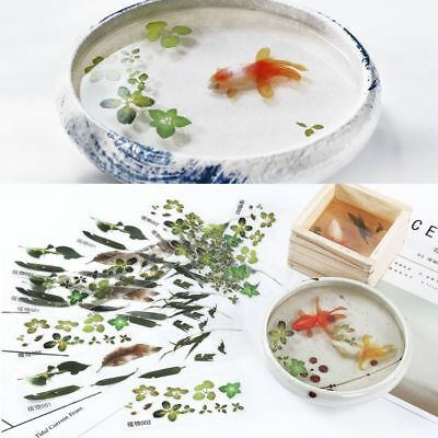 510Pcs 3D LeavesGoldfish Clear Water Film Sticker For Resin Painting Jewely