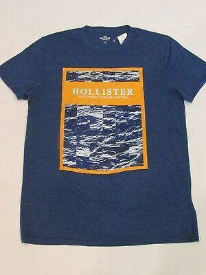 NEW MEN'S HOLLISTER CO- SHORT SLEEVE GRAPHIC T-SHIRT HEATHER NAVY PICK A SIZE