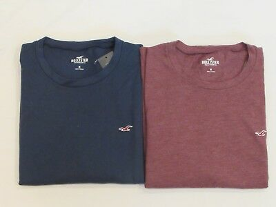 NEW MEN'S HOLLISTER CO- LONG SLEEVE SOLID T-SHIRT PICK A SIZE AND COLOR