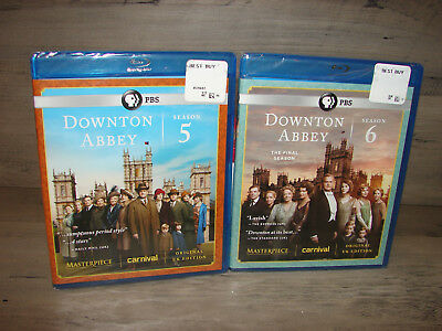 Downton Abbey Season 5 - 6 Blu-ray 5th - 6th Seasons  NEW SEALED