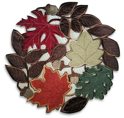 Doily 16 Autumn Doily Maple Leaves Leaf Table Topper Fall Thanksgiving Round