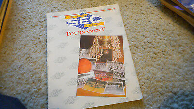 SEC Basketball Tournament Program Book 1989