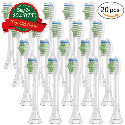 20 X Tooth Brush Heads Fit For HX6064 Philips Sonicare Diamond Clean Replacement