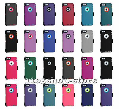 iPhone 6 Plus - iPhone 6s Plus 5-5 Defender Hard Shell Case wHolster Belt Clip