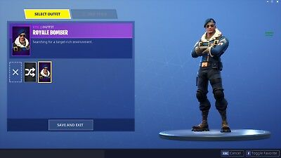 Fortnite Battle Royale ROYALE BOMBER ACCOUNT PS4XBOX ONEPC