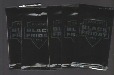 5 - 2018 PANINI BLACK FRIDAY FACTORY SEALED MULTI SPORT PACKS - 4 THIN - 1 THICK