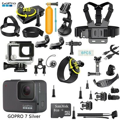 GoPro HERO 7 Silver Edition Touch-Screen Camera - 40 PCS Sports Accessory