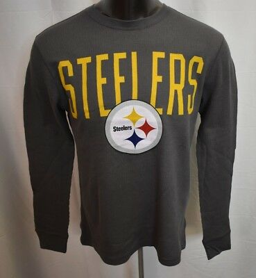 NFL Team Apparel Mens Pittsburgh Steelers Thermal Long Sleeve Shirt New