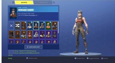 Stacked Rare Skin Fortnite Account- Includes Renegade Raider and Many more Skins