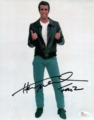 Henry Winkler Signed Autographed 8x10 Photo Happy Days Fonzie 2 Thumps Up JSA