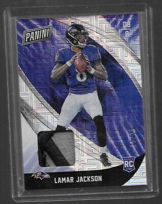 2018 PANINI BLACK FRIDAY LAMAR JACKSON PLAYER WORN MATERIAL PATCH RELIC 2525