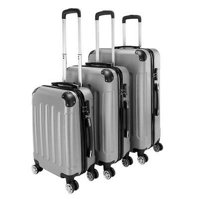 New 3 Pieces Travel Spinner Luggage Set Bag ABS Trolley Carry On Suitcase wTSA