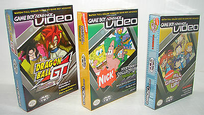 lot of 3 NEW GameBoy Advance Videos DRAGONBALL  Nicktoons - MORE