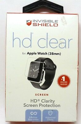 ZAGG - HD Clear Shield Screen Protector for Apple Watch 38mm - Clear