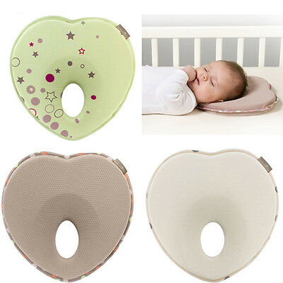 Baby Newborn Infant Pillow Memory Foam Positioner Prevent Flat Head Anti Roll US
