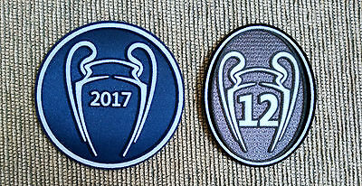 Parches Campeón UCL Champions 2017 - 12 copas para camiseta Real Madrid 2800e2c4468bb