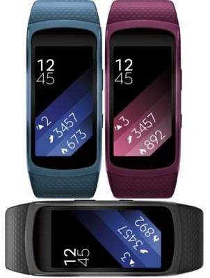 Samsung Gear Fit2 Fitness Band Heart Monitor Smartwatch R360-black