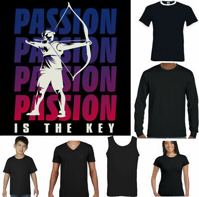 ARCHERY PASSION FUNNY ARCHER T SHIRT BOW AND ARROW TARGET CROSSBOW KIT