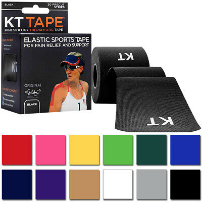 KT Tape Cotton 10 Precut Kinesiology Therapeutic Elastic Sports Roll 20 Strips