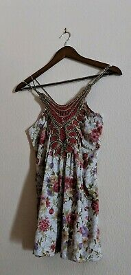 Wet Seal Floral Strappy Tank Top M