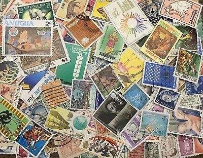 Lot G 250 Different Worldwide Stamp Collection off paper - GREAT Value