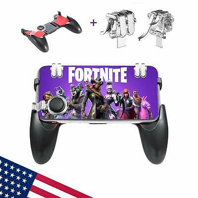 Mobile Controller For iPhoneSamsung Fortnite PUBG Gamepad Triggers 3 in 1 New