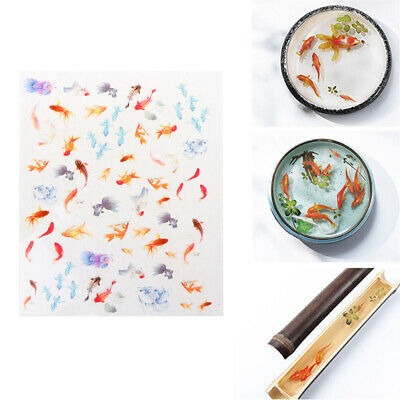 3D Goldfish Clear Film Resin DIY Stickers Water-Like Painting Jewelry Making