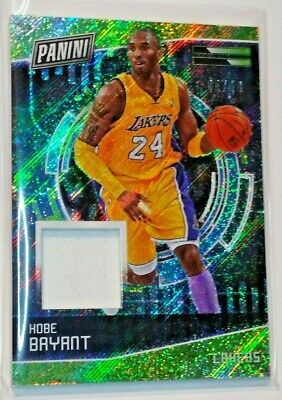 Kobe Bryant 2018 Panini Cyber Monday Player Worn Material Relic d 0510 card