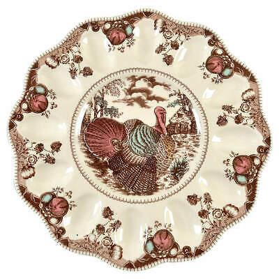 Johnson Brothers HIS MAJESTY Deviled Egg Plate Imperfect 7659923